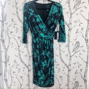 Roberto Cavalli CLASS Faux Wrap Body Con Dress 6
